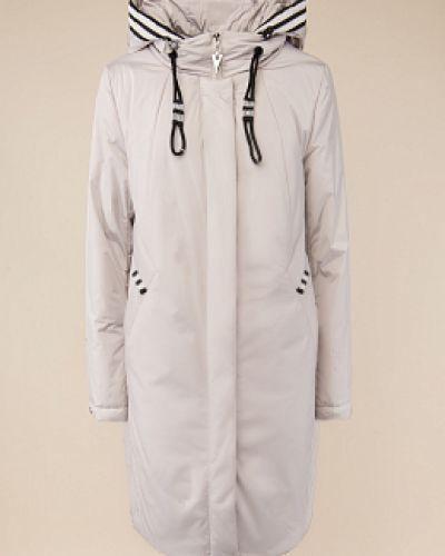 Утепленное бежевое пальто с воротником Alyaska
