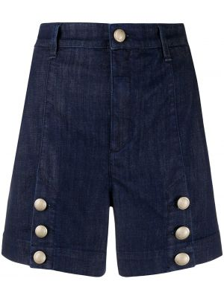 Джинсовые шорты с завышенной талией с карманами Jacob Cohen