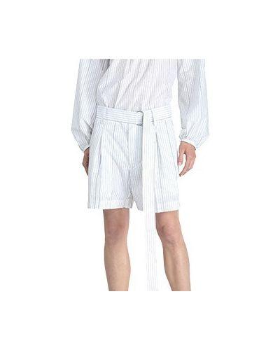 Флисовые белые шорты No.21