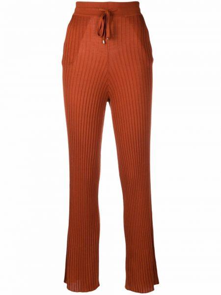 Расклешенные с завышенной талией шелковые брюки N.peal
