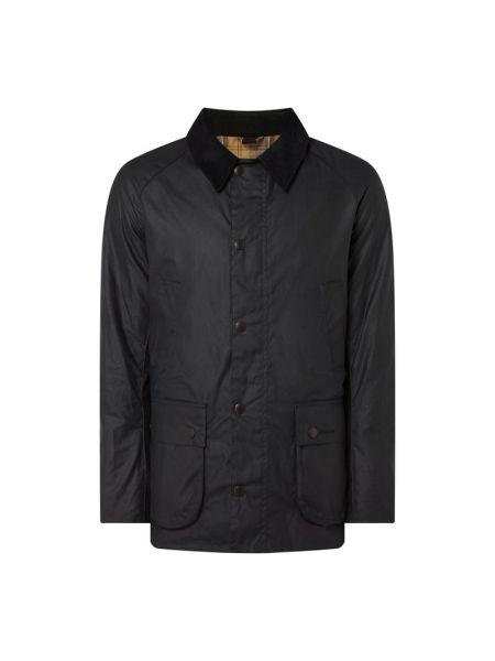 Niebieska kurtka bawełniana z raglanowymi rękawami Barbour