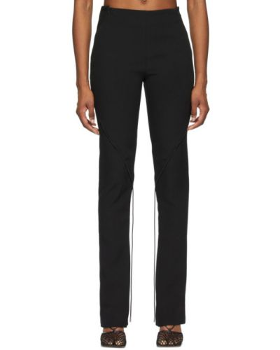 Расклешенные черные брюки на резинке Dion Lee