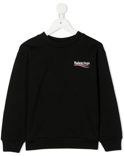 Czarny bluza z długimi rękawami okrągły dekolt okrągły Balenciaga