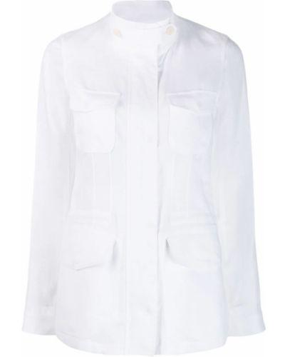 Рубашка белая на молнии Loro Piana