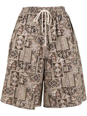 Свободные хлопковые шорты с карманами Goen.j
