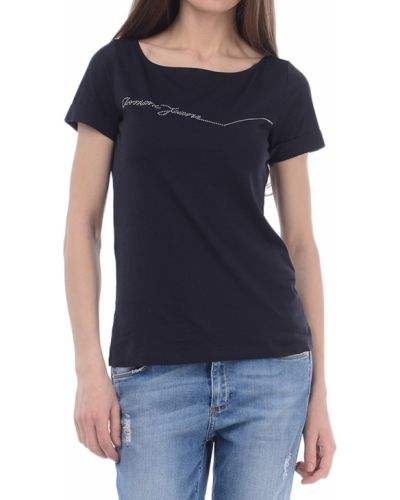 Хлопковая футболка - синяя Armani Jeans