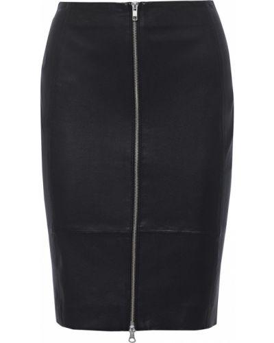 Черная кожаная юбка Muubaa