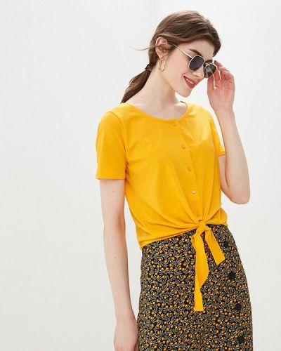 Блузка с коротким рукавом желтый весенний Blendshe