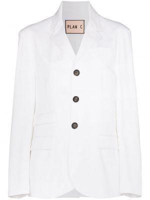 Однобортный белый пиджак на пуговицах Plan C