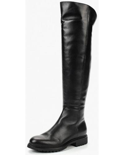 Ботфорты на каблуке кожаные черные Dolce Vita