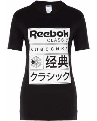 Футболка черная прямая Reebok