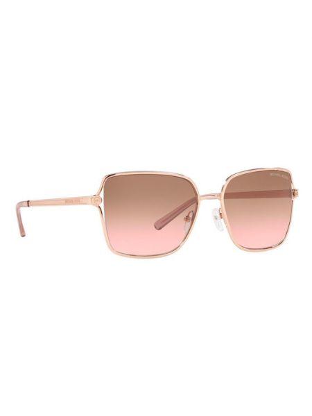 Złote okulary Michael Kors
