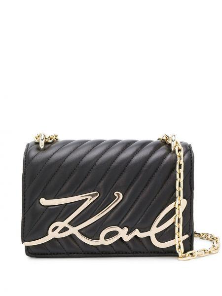 Сумка на цепочке на плечо с пряжкой Karl Lagerfeld