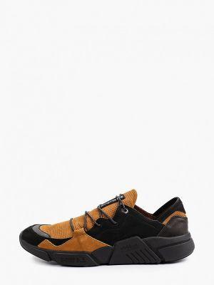 Коричневые кроссовки из нубука Shoiberg