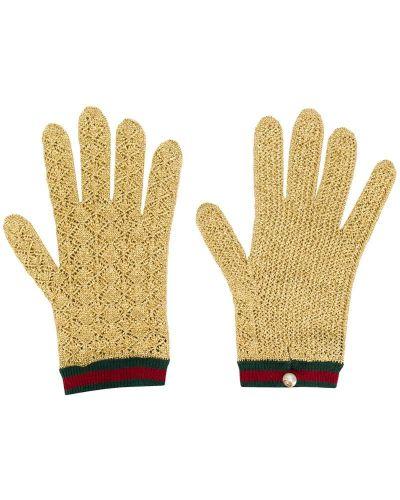Вязаные перчатки - желтые Gucci