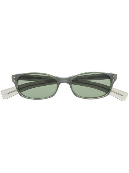 Солнцезащитные очки прямоугольные металлические хаки Dolce & Gabbana Pre-owned