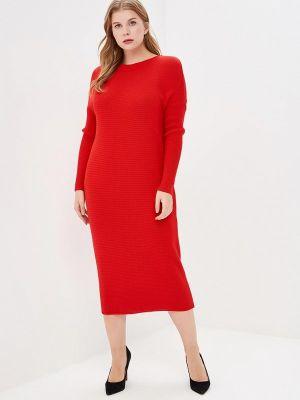 Трикотажное платье - красное Marytes