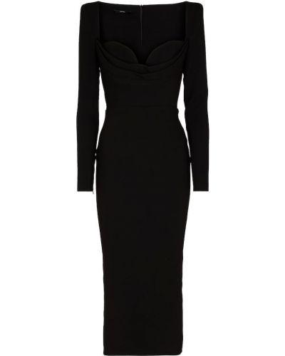 Czarna sukienka midi Alex Perry
