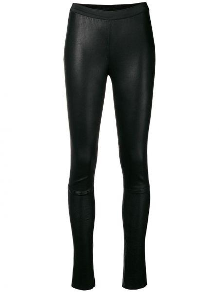 Черные кожаные леггинсы эластичные A.f.vandevorst