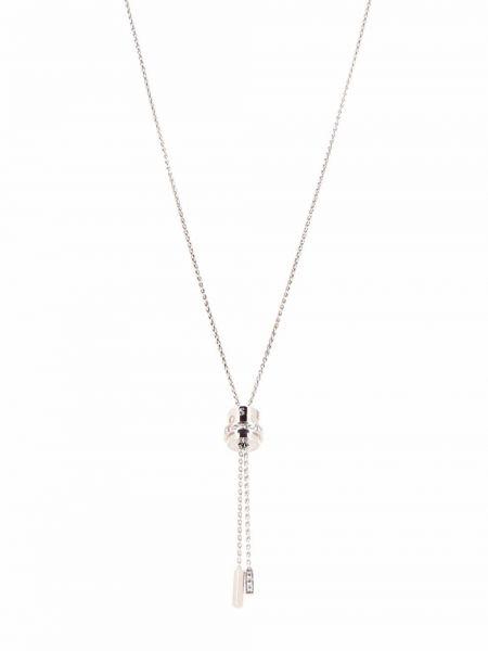 Biały naszyjnik srebrny Piaget