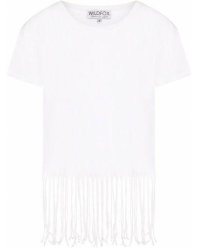 Белая футболка однотонная Wildfox