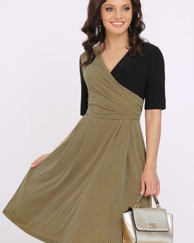 Летнее платье с поясом теплое Dstrend