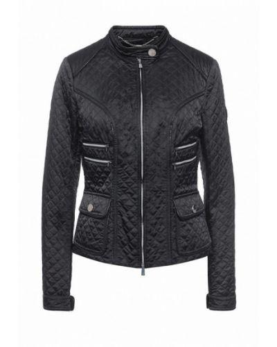 Утепленная куртка демисезонная черная Husky