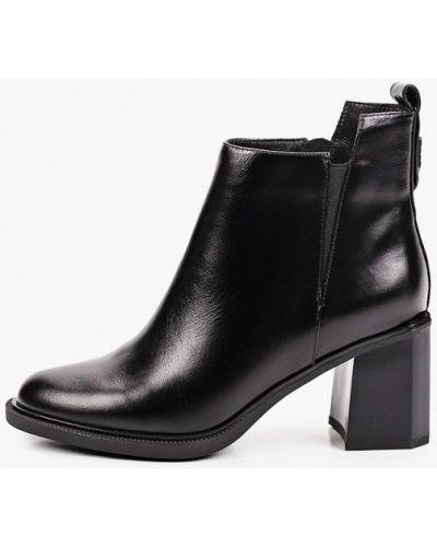 Черные кожаные ботинки Covani