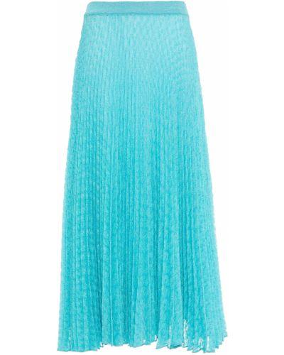 Spódnica plisowana turkusowa Missoni