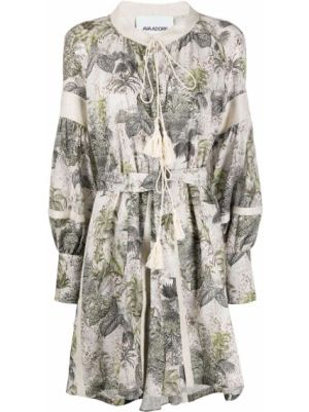 Прямое приталенное платье мини с вырезом из вискозы Ava Adore