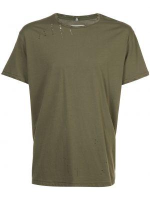 Хлопковая футболка - зеленая R13