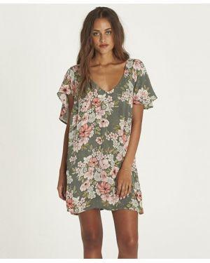 Вечернее платье мини с цветочным принтом Billabong