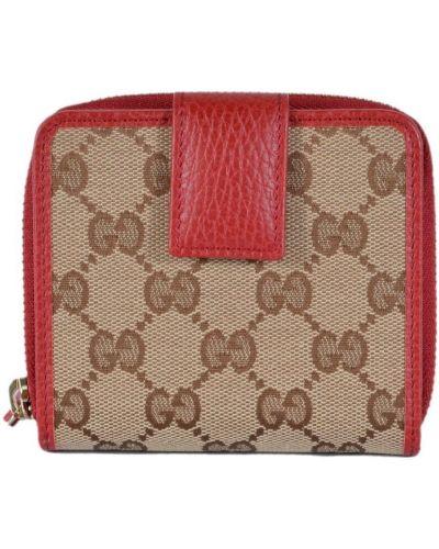 Beżowy portfel skórzany Gucci