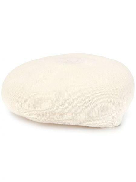 Biały beret z haftem bawełniany Undercover