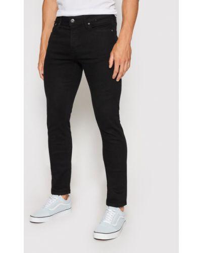 Czarne jeansy slim Jack&jones