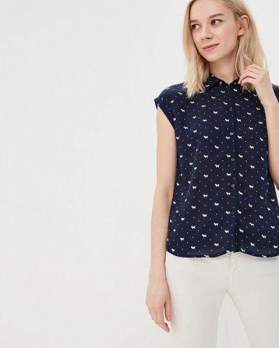 Блузка синяя весенний Modis