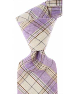 Szary krawat bawełniany Isaia