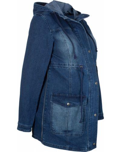 Джинсовая куртка с капюшоном для беременных Bonprix