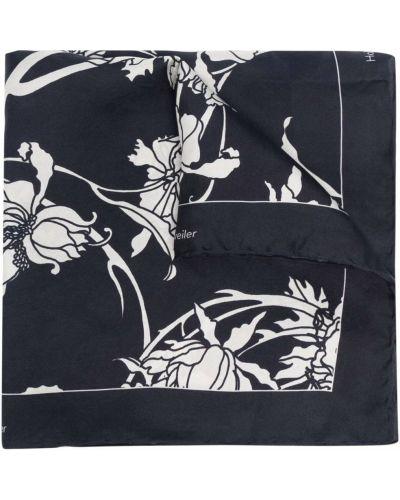Biały szalik w kwiaty Holzweiler
