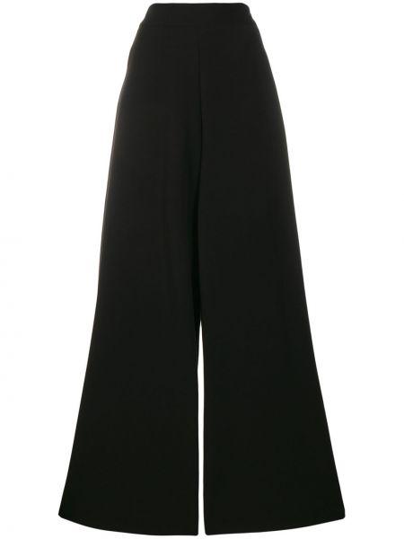 Czarne spodnie z wiskozy Ultrachic