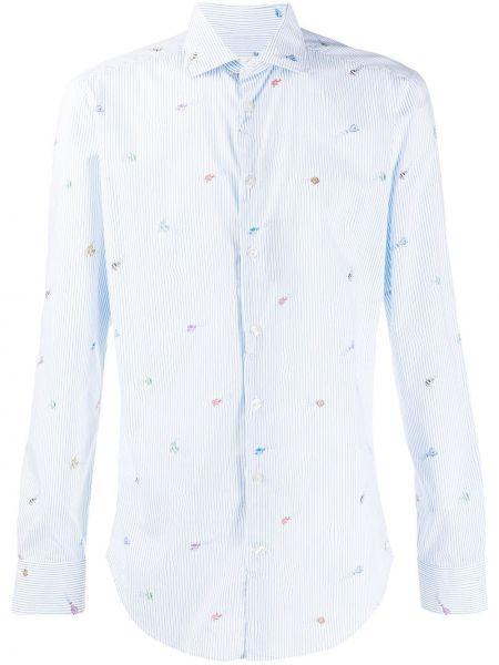 Koszula z długim rękawem w paski z paskami Etro