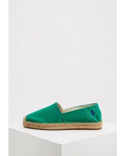 Текстильные зеленые эспадрильи Polo Ralph Lauren