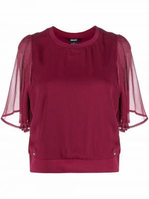 Блузка с короткими рукавами - красная Dkny