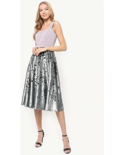 Вечернее платье осеннее серебряный Tutto Bene