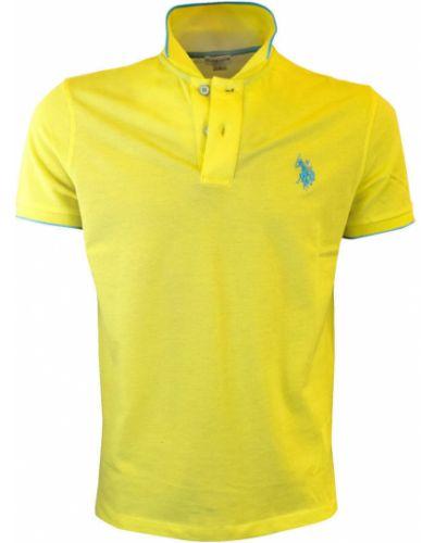 T-shirt - żółta U.s Polo Assn.