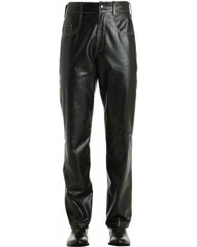 Czarne spodnie skorzane Vejas
