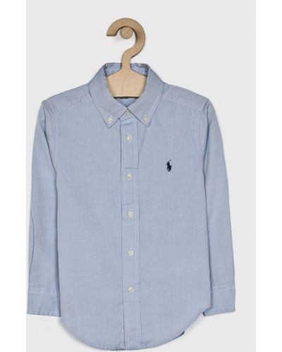 Рубашка эластичный синий Polo Ralph Lauren