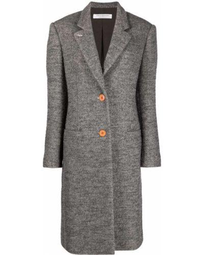 Серое пальто длинное Philosophy Di Lorenzo Serafini