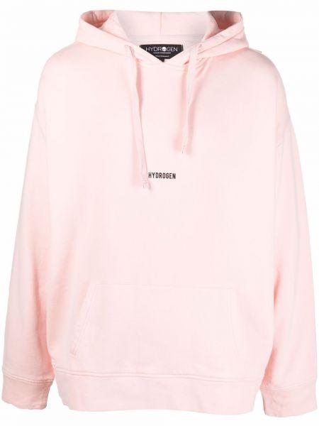 Różowa bluza z kapturem Hydrogen