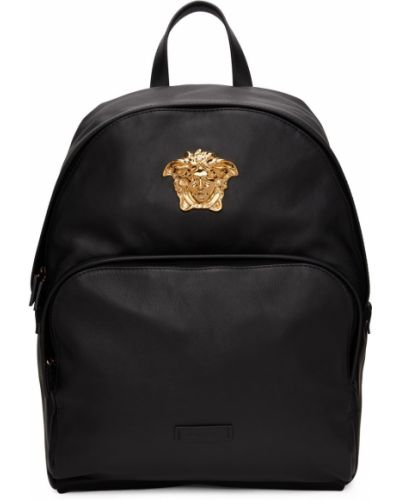 Plecak skórzany - czarny Versace